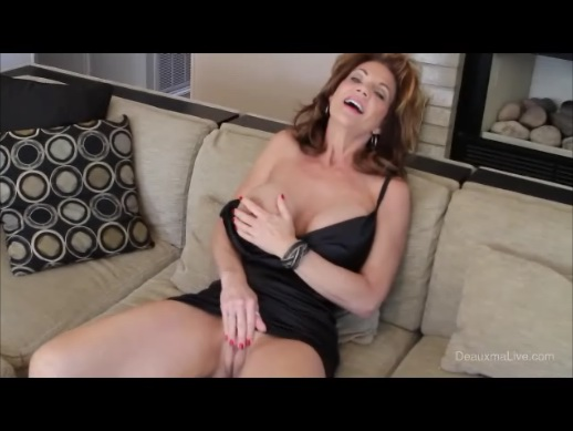 Sexy MILF Deauxma in HOT Little Black Dress and Spike Heels